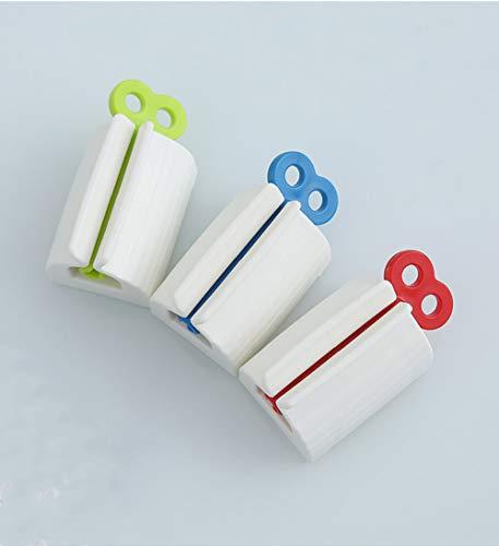 3 Piezas Exprimidor de Tubos Soporte ,Pasta de Dientes Exprimidor Dispensador de Pasta Dental, para cremas de manos de baño Pasta de dientes (rojo azul verde).