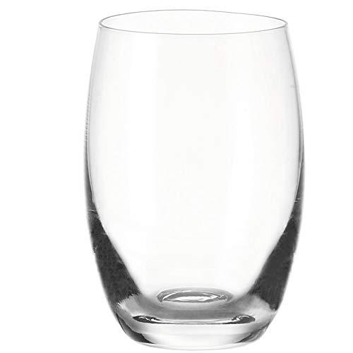 Leonardo Cheers Trink-Gläser, 6er Set, spülmaschinenfeste Wasser-Gläser, Trink-Becher aus Glas, Getränke-Set, Saft-Gläser, 460 ml, 060413