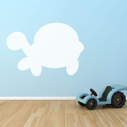 Supertogether schildpad droog afwisbaar whiteboard kinderkamer speelkamer muur stickers, wit