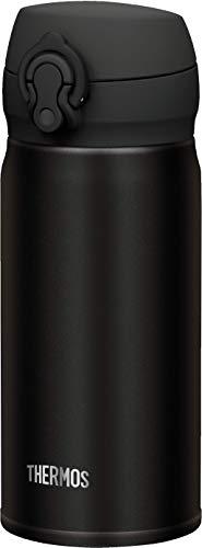 THERMOS 4035.232.035 Thermosflasche Ultralight, Edelstahl Mat Black 0,35 l, extrem leicht, nur 165 g, 10 Stunden heiß, 20 Stunden kalt