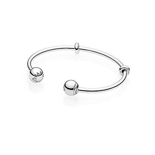 Pandora Damen-Armreifen 925 Sterlingsilber 596477-2, 17,5 cm