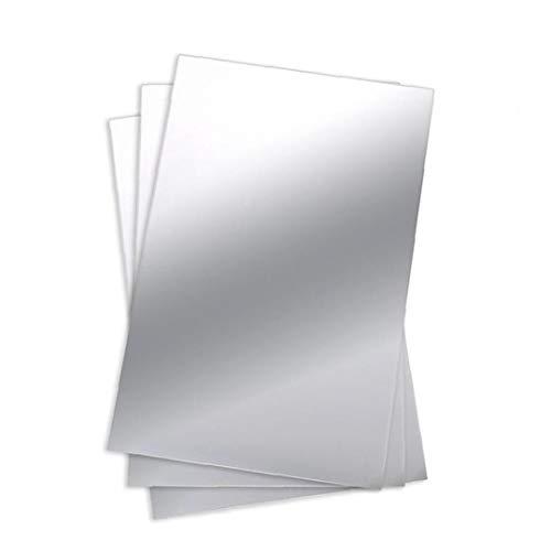 NIDONE Hojas Espejo Espejo Flexible Pegatinas De Pared Espejo Flexible para No Espejo De Cristal Azulejos Engomada Decoración del Hogar Espejo 50 * 100cm 1pc