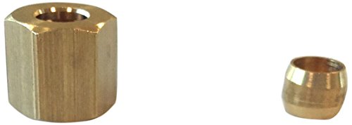 Dolcevita BBQ dlv02Mutter Messing M10X 1Gas und Zugöse mit Doppelkonus, Durchmesser 6, Messing, 22x 11x 6.5cm