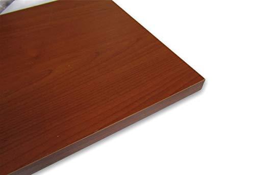 Alfredo Calandrelli Estantes de pared de madera ennoblecida, en varios tamaños y colores (cerezo, 80 x 20 cm)