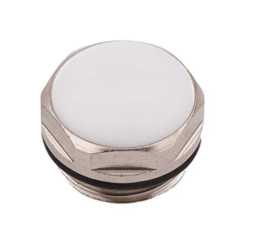 Sourcingmap Heizkörper-Blindstopfen/Rohrverschraubungen, verchromt, mit schönem weißen Finish