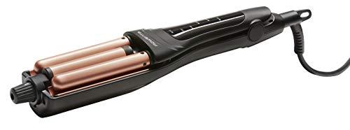 Rowenta CF4710 Waves Addict Welleneisen | Haarstyler | 6 Temperaturstufen | inkl. Aufbewahrungstasche | Wärmeschutzgehäuse | Automatische Abschaltung | Schwarz/Rosé