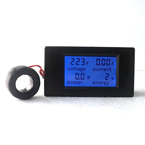 KETOTEK Voltmeter Ammeter AC Digital Meter Spannungsprüfer Din Rail CT Strom Leistungsmesser Energiezähler AC 80-260V 100A Voltmeter Volt Ampere Multimeter LCD Spannung Tester (AC 80-260V 100A)