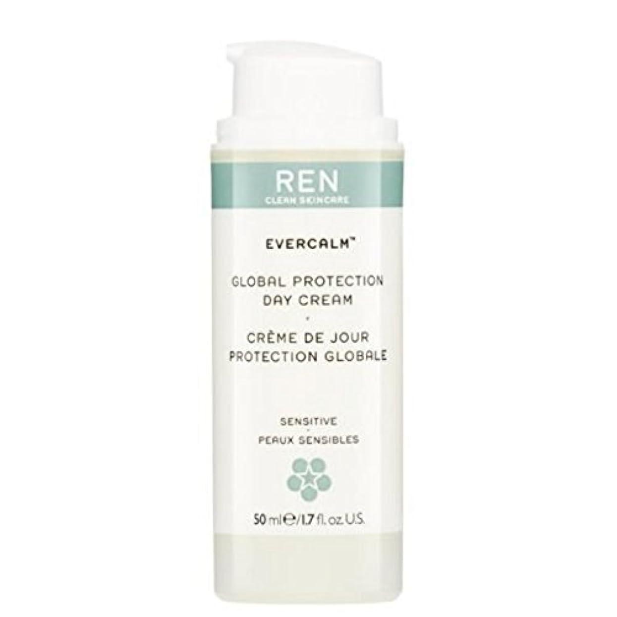 もの遺産あたりグローバルプロテクションデイクリーム x4 - REN Evercalm Global Protection Day Cream (Pack of 4) [並行輸入品]