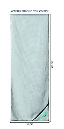 Banters Mikrofaser-Handtuch in grau für Sport und Fitness | Sporthandtuch für Workout und Kraft-Training im Fitnessstudio (mit Geschenkverpackung) - 5