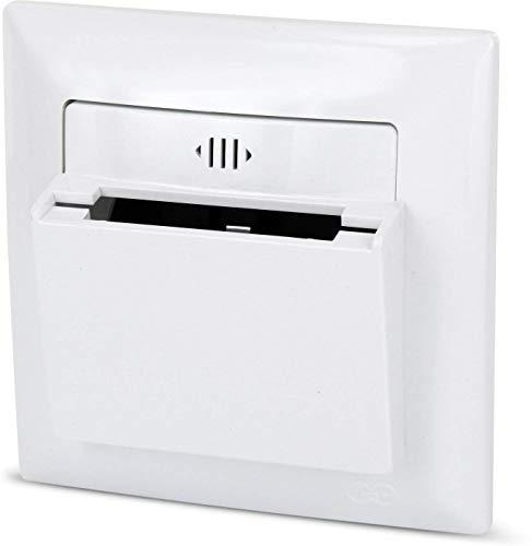 UP Hotel - Interruptor de tarjetas todo en uno, marco + inserto empotrado + cubierta + tarjeta insertable (serie G1 blanco puro)