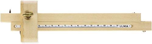 Ulmia Messwerkzeug (Streichmaß) - Präzisionswerkzeug zum parallelen Anreißen von Breiten- und Dickenmaßen, 2 hochpräzise Anreißstäbe mit eingelegter Maßskala, ohne Kurvenanschlag - 29