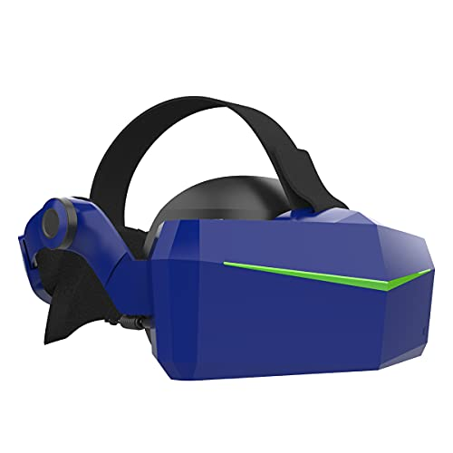 Pimax Vision 5K Super VR Headset with Wide 200°FOV, Dual 2560x1440p Resolution, Fast-Switched Gaming Panels for PC VR Gamers, Up to 180 Hz High Refresh Rate, USB-Powered, Standard Modular Audio Strap