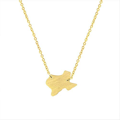 Zaaqio Necklace USA Map Texas Shape Pendants & Necklaces for Women Vintage Jewelry Stainless Steel Charm Chain Femme Collier BFF Gifts