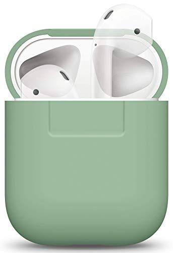 Preisvergleich Produktbild elago Silikonhülle Kompatibel mit Apple AirPods 1 & 2 (LED an der Frontseite Nicht Sichtbar) - [Unterstützt kabelloses Laden] [Stoßfeste Schutzhülle] [Perfekt Passt Hülle] - Pastell Grün