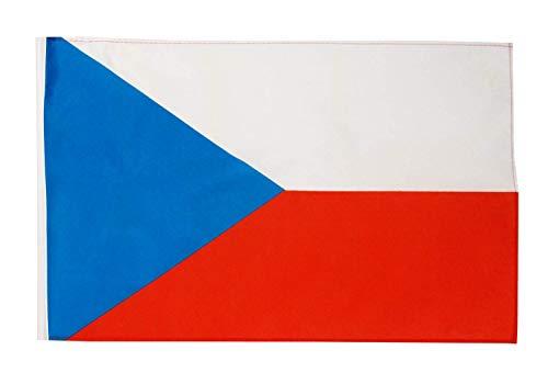 FlagSuperstore© Tschechische Republik Bootsflagge 45,7 x 30,5 cm – Baumhäuser, Wohnwagen, mit Ärmeln 45 x 30 cm – Land