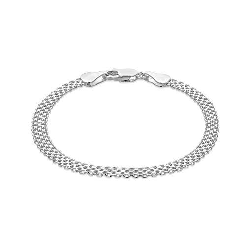 Tuscany Silver 8.28.1792 - Pulsera de plata de ley (925/1000)