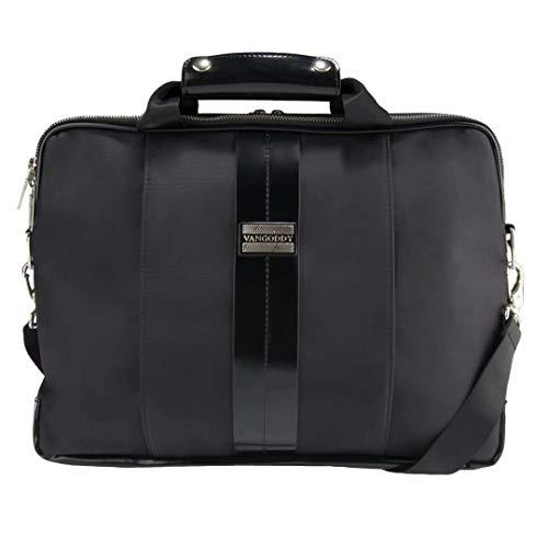 Black Classic Laptop Messenger Bag for Toshiba Satellite, Portege, Tecra, Laptops up to 15.75 inch