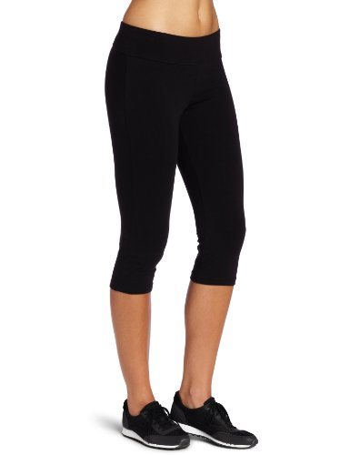 Spalding Women's Plus SizeWomen's Capri Legging Essential, Black, 2X