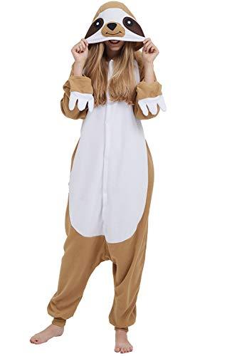 DarkCom Disfraz de Animal Unisex para Adulto Sirve como Pijama o Cosplay Sleepsuit de una Pieza Amarillo,M para Altura(155CM-175CM)