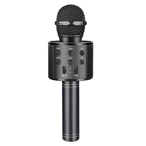 Kids Microphone for 4-16 Year Old Girls Boys Kids, Microphone for Kids Wireless Portable Karaoke Machine Cool Toys for Kids Age 4-16 Fun Toy Birthday for 4-16 Year Old Girls Boys Teens