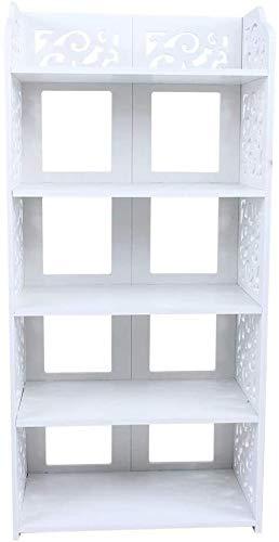 Nivel 5 Inicio de zapatos tallado del gabinete del organizador del almacenaje estante del zapato Soporte de estante de CD pantalla de la unidad de inserción for Pasillo Puerta de entrada 40 * 23 * 90c