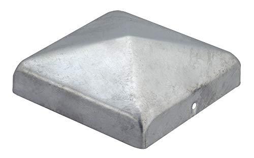 GAH-Alberts 216689 Pfostenkappe für Holzpfosten | flache Form | feuerverzinkt | 100 x 100 mm