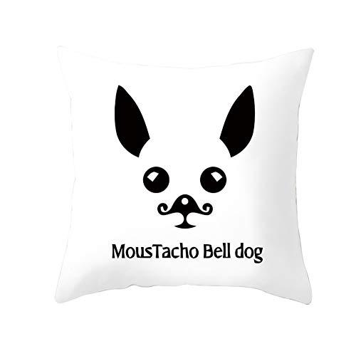Fundas de cojín Fundas de Almohada decorativas Simplicidad de cachorro Terciopelo Suave Cuadrado Fundas de Cojines para Sala de Estar Sofá Cama Coche Decor Throw Pillow Case V1041 Pillowcase,50X50cm