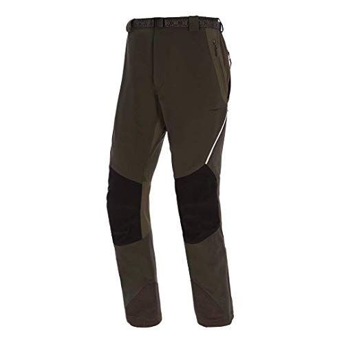 Trango Pant. Largo Prote FI Pantalon Homme, Vert foncé/Noir, S