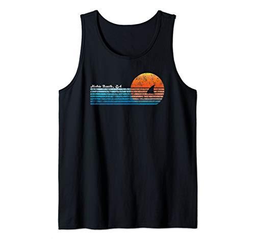 Vintage Hobie Beach Retro 80s Shark Fin Sunset Tank Top
