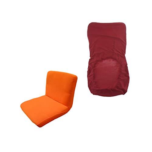 PETSOLA Naranja Y Rojo Vino Spandex Stretch de Una Pieza Funda para Silla de Comedor Funda