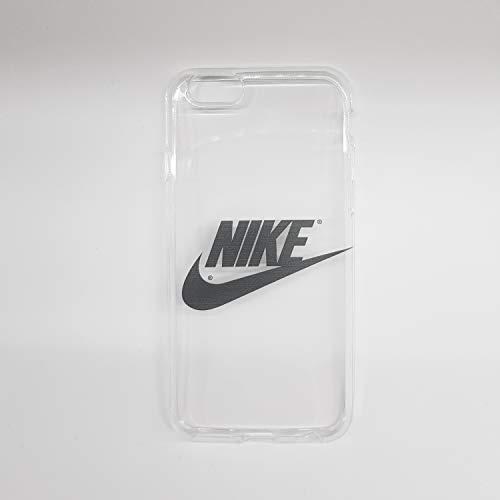 custom-cases Hülle Tasche für Mobile Gehäuse Logo Nike in Schwarz mit Hintergrund Transparent - iPhone 8