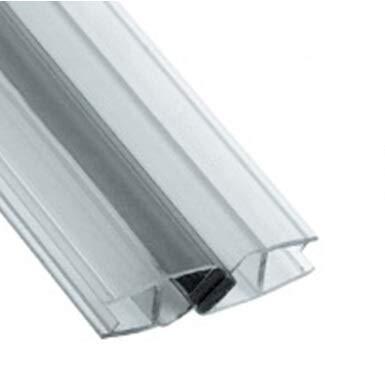195 cm Magnetdichtung, Transparent für 8 mm Glas/Dichtung für Dusche Duschkabine Duschwand