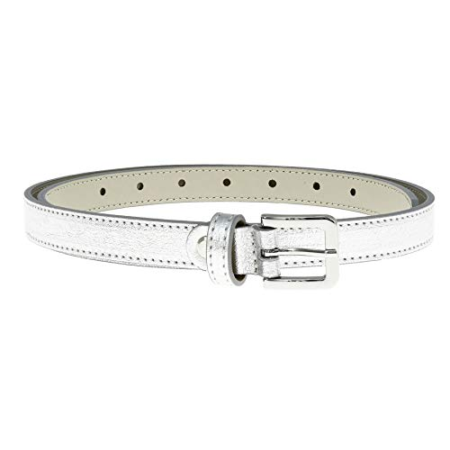 FASHIONGEN – Women's Belt 2 cm Genuine Italian Leather, Linda - - Medium