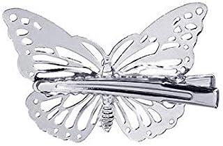 Color : Silver Oro YKDY Diadema 3 UNIDS Moda Mujer Pinzas de Pelo Paperclip Metal Minimalista Personalidad Horquilla