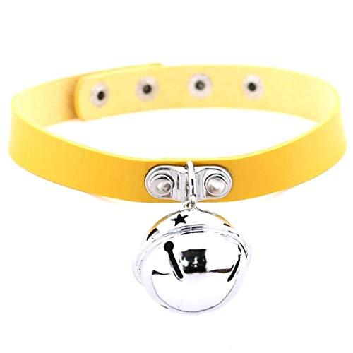 Cratzons A2000A A2000A Set verstellbares Katzenhalsband mit Glöckchen, 16 Farben, laute Katzenglöckchen für Halsbänder