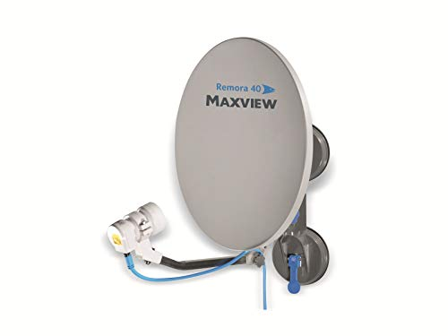 Maxview MXL026 Remora 40 Suction Mounted Portable Solid Satellite TV Dish Kit for Caravan,...