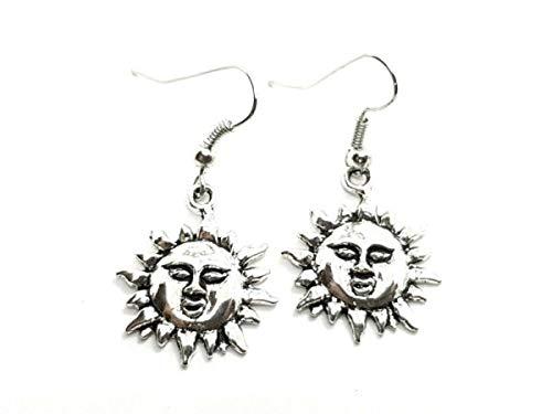 TANAMI Earrings Supplies for Sun Earrings Bohemian Ethnic Hippy Front Facing Hook Drop Dangle Suns Great for DIY Jewelry Gift for Women Girls