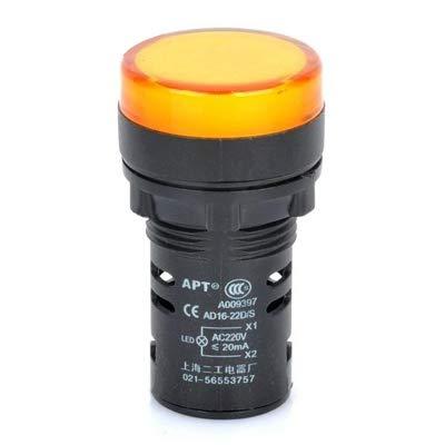 Luoshan AD16-22D / S 22mm Lámpara de luz indicadora de señal LED (Amarillo) (Color : Yellow)