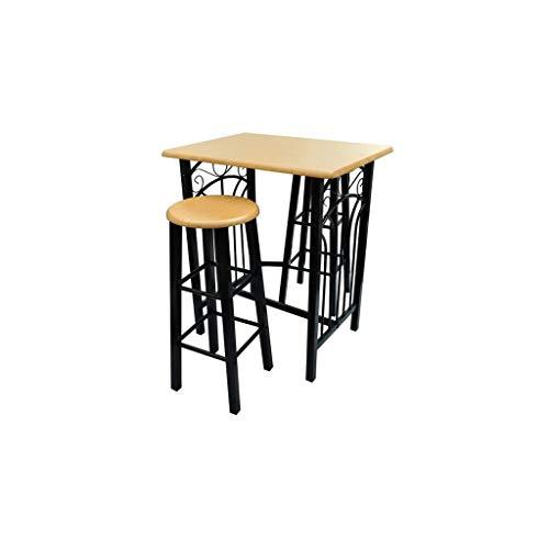 Cikonielf – Mesa de bar y 2 sillas altas – Conjunto de mesa de comedor de pie con 2 sillas, mesa de desayuno, mesa alta para cocina