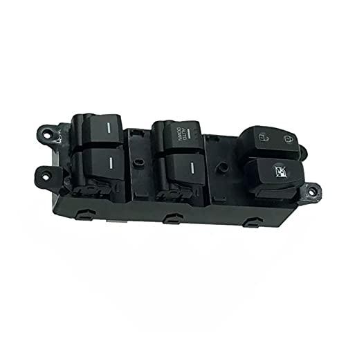 CMEI Interruptor de control de elevalunas delantero izquierdo para Hyundai IX25 Creta (color negro)