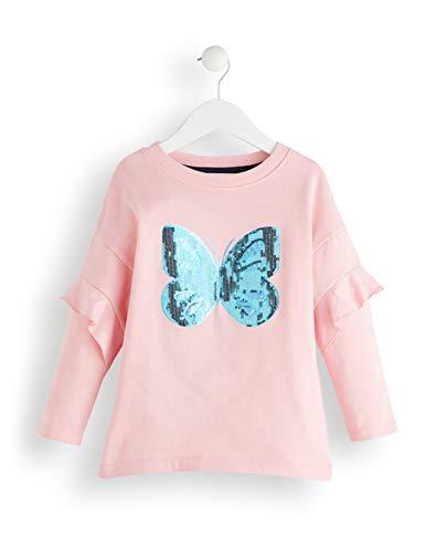 Amazon-Marke: RED WAGON Mädchen Sweatshirt Butterly Sequin, Pink (Multicolour), 104, Label:4 Years
