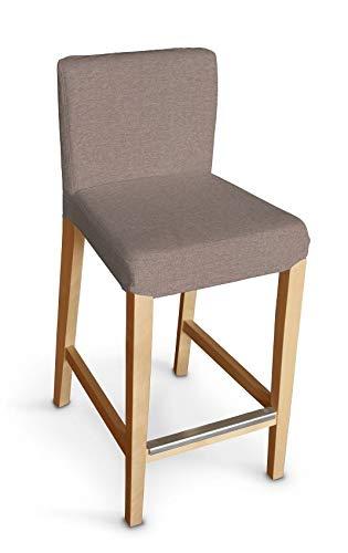 Dekoria Henriksdal Husse für Barhocker Husse Stuhlbezug,Stuhlkissen passend für IKEA Modell Henriksdal grau-beige