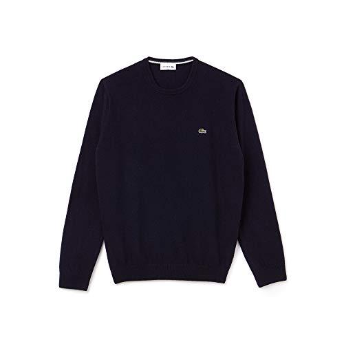 Lacoste Ah0841 Suéter, Azul (Marine/Sinople-Farine Asy), Small (Talla del Fabricante: 3) para Hombre