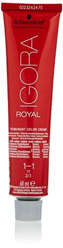 Schwarzkopf IGORA Royal Premium-Haarfarbe 1-1 blauschwarz, 1er Pack (1 x 60 g)