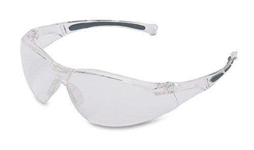 Honeywell 1015370 A800 Sportig Säkerhetsglasögonram Med Genomskinlig Reptålig Lins, Genomskinlig