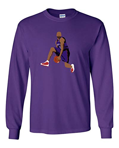 Long Sleeve Purple Toronto Carter The Dunk T-Shirt Adult