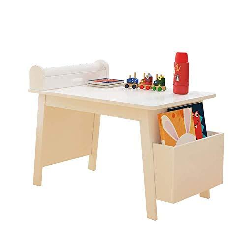 Kinder Schreibtisch Kunst for Kinder Tabelle W/Papierrollenhalter, Aufbewahrungsbehälter, Glatte Oberfläche Aktivität Tisch, Malerei Tisch mit 10m Rollenpapier Kindersitz