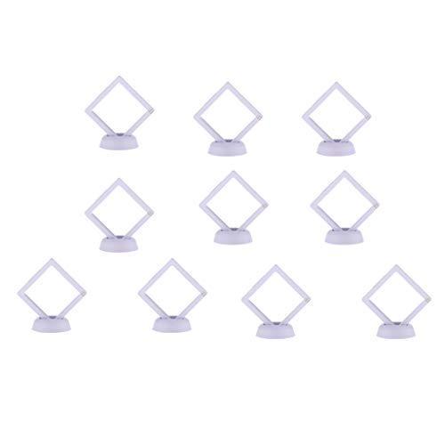 Vitrine Box Ständer Für Schmuck Und Münzen Display Und Lagerung, 10 Teile / Satz - Weiß