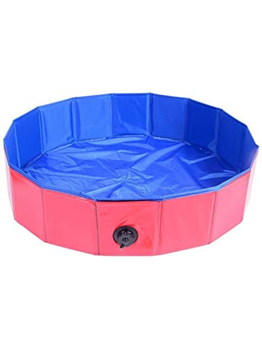 SLAYY Piscina de baño para Mascotas Plegables, Piscina de enfriamiento de Cachorros de PVC, Piscina portátil para bebés, Piscina Redonda de Perros (120 * 30 cm)