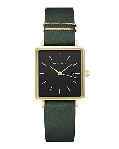 Rosefield The Boxy Womens Analog Quartz Watch with Leather Bracelet QBFGG-Q031